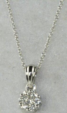 NEW 14K WHITE GOLD DIAMOND NECKALCE
