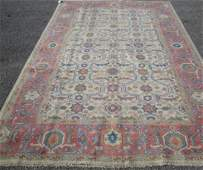 27C: 6'7 x 10 PERSIAN SULTANABAD OUSHAK DSGN HANDMADE A