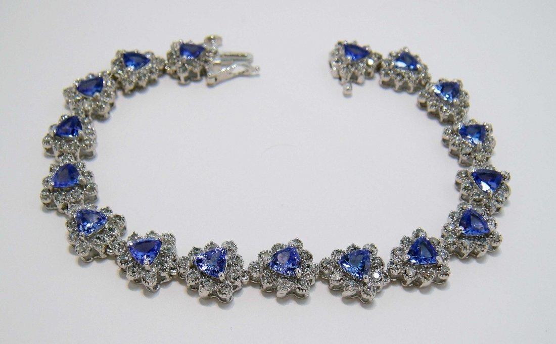2: 5.95ct Tanzanite & 1.65ct Diamond 14KT Gold Bracelet