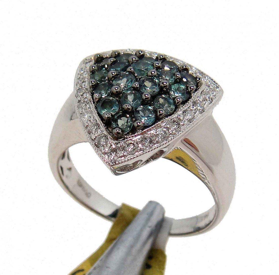 3D: 0.99ct Alexandrite & 0.27ct Diamond 14KT Gold Ring