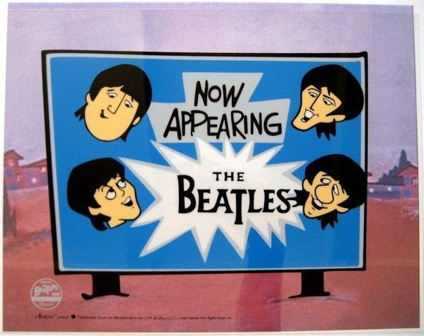 1W: THE BEATLES NOW APPEARING Animation Cartoon Sericel