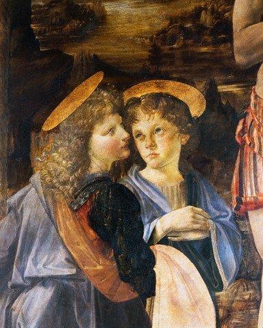 3E: The Baptism of Christ [detail]  Leonardo Da Vinci