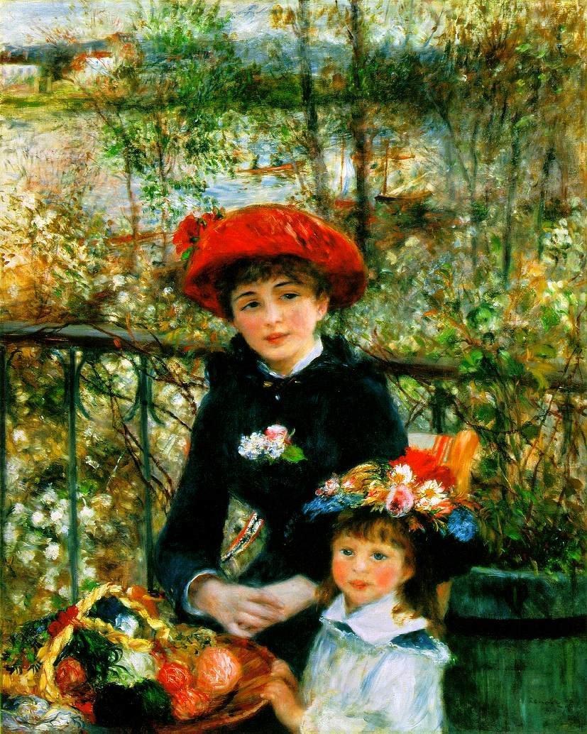 4E: On The Terrace, By Pierre-Auguste Renoir Giclee Pri