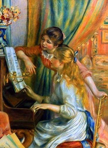 5EA: Renoir Girls at the Piano Giclée.