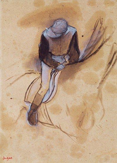 "1AW: Degas    ""Jockey flexed forward standing in the sa"