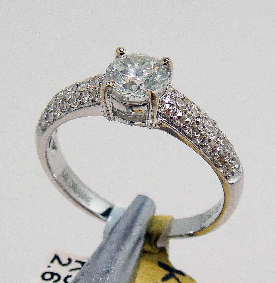 1.03ct (0.70ct SI-3 CNTR) Diamond 14KT White Gold Ring