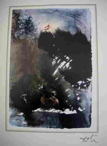 35: Salvador Dali Bible Lithograph Ars Mundi X-319