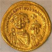 Ancient Byzantine Gold Coin HERACLIUS AV 610-641 AD