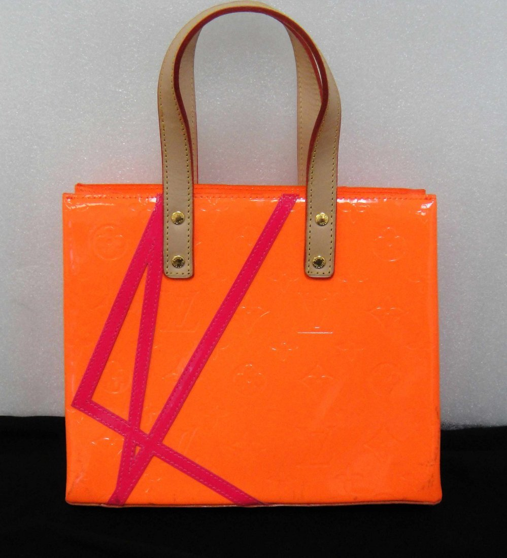 2C: Louis Vuitton Robert Wilson Orange Vernis Handbag
