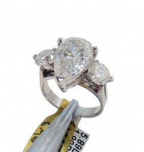 APP: $221K- 7.88ctw, 5.89CT F I1 CNTR 14KT Gold Ring