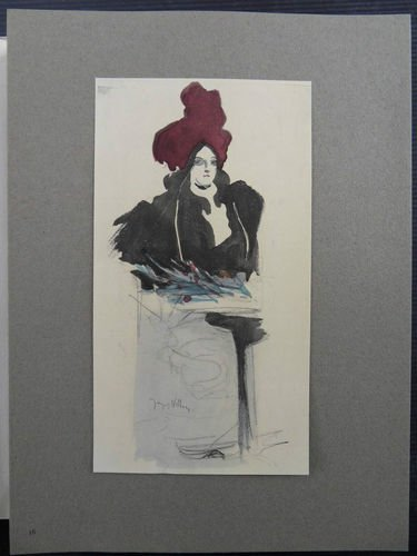 "Jacques Vllon ""Femme Chic"" Vellum Litho Plate Signed"