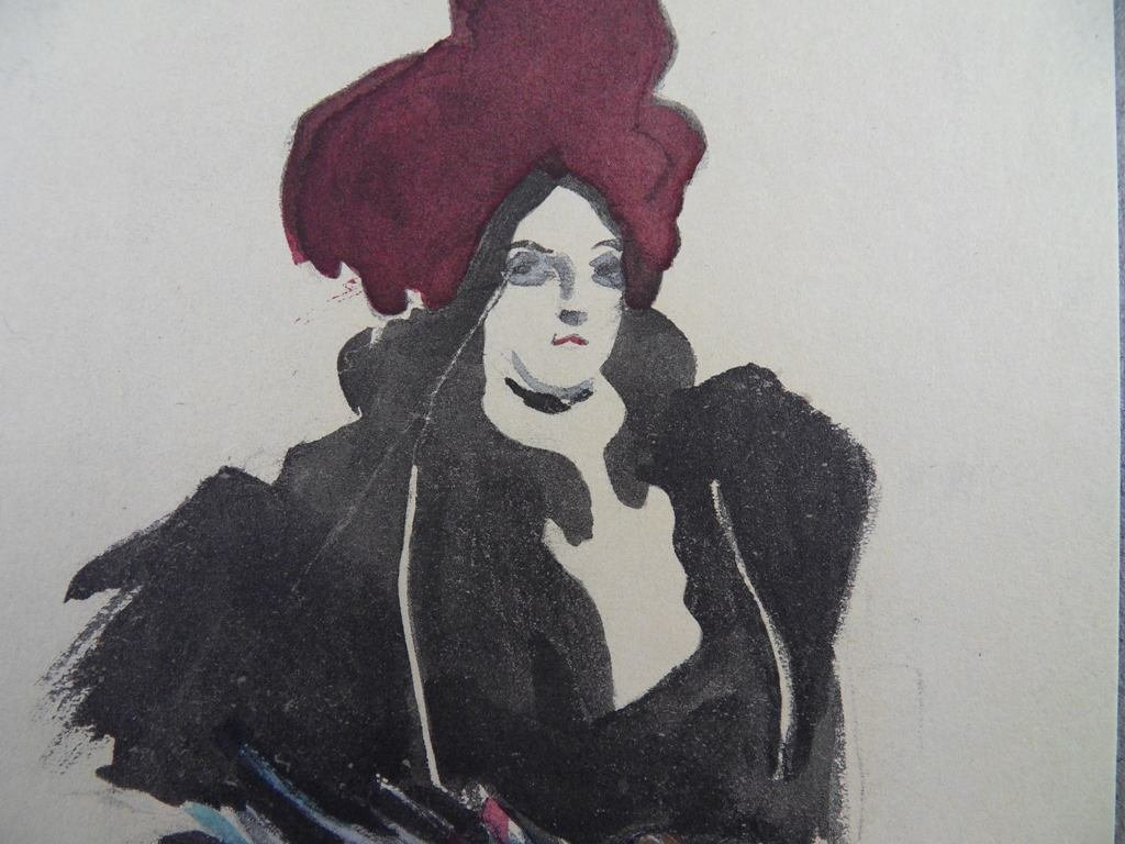 "Jacques Vllon ""Femme Chic"" Vellum Litho Plate Signed - 2"