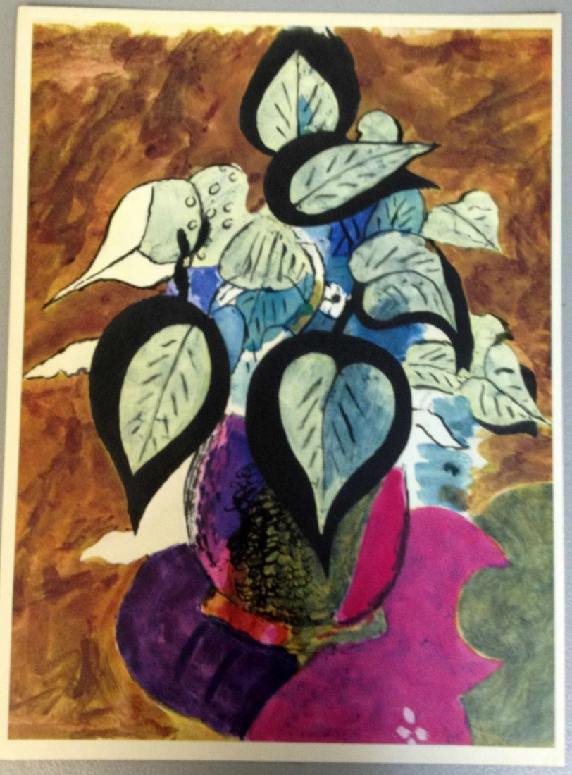 """Georges Braque """"Fleur en pot"""" Lithograph w/ COA"""