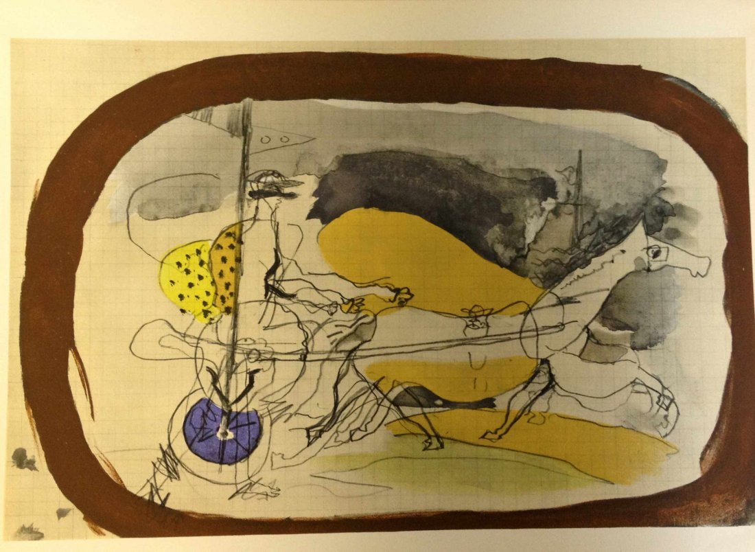 """Georges Braque """"Le jockey"""" Lithograph Plate Signed"""