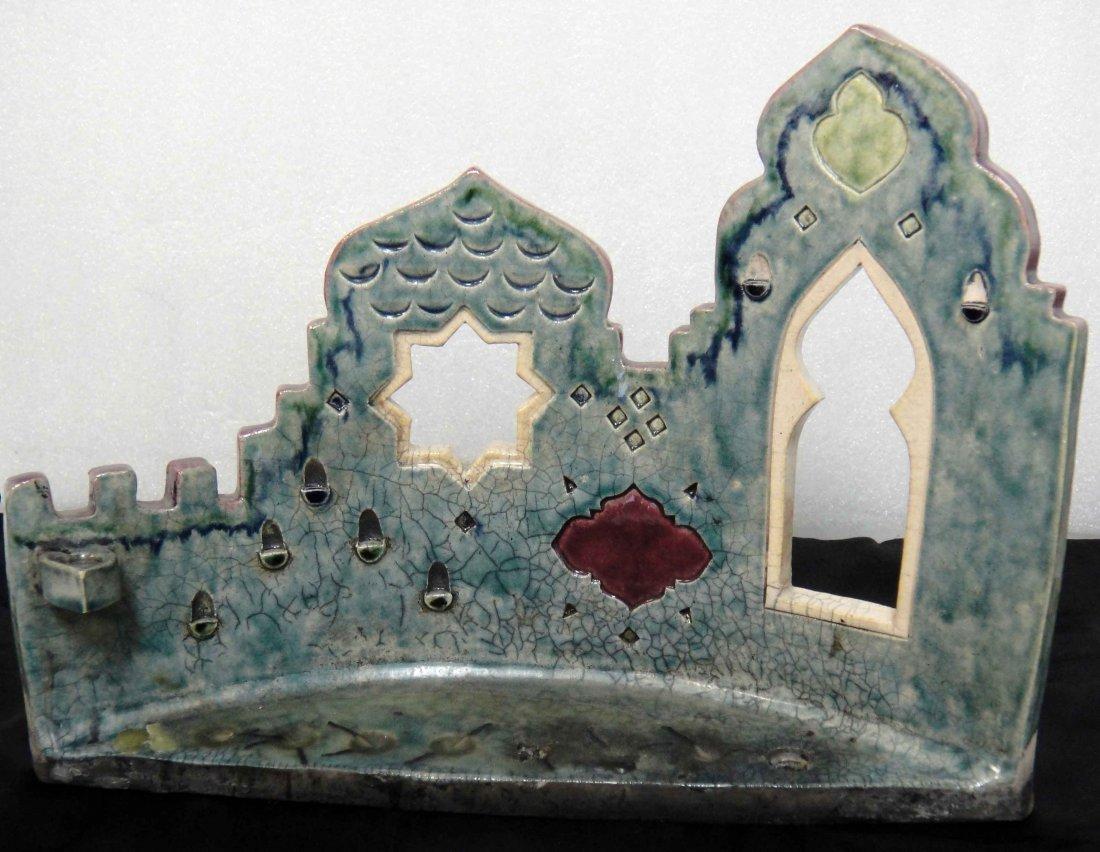 14: Porcelain Judaical The Wailing Wall Candelabra