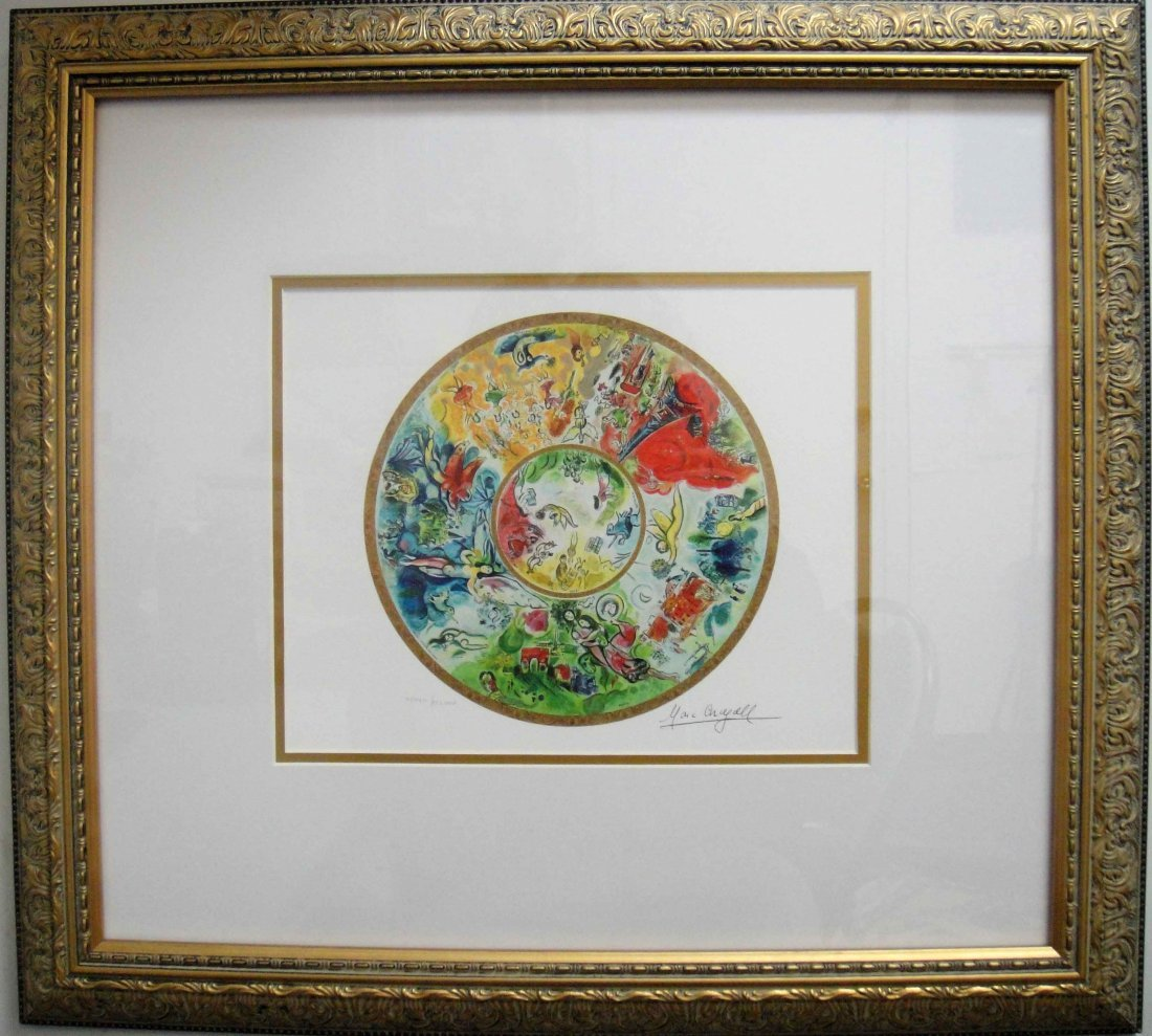 "20: Marc Chagall ""Paris Opera Ceiling"" Giclee Framed"