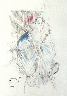 """LAUTREC """"Elsa La Viennoise""""  Plate Signed Lithograph"""