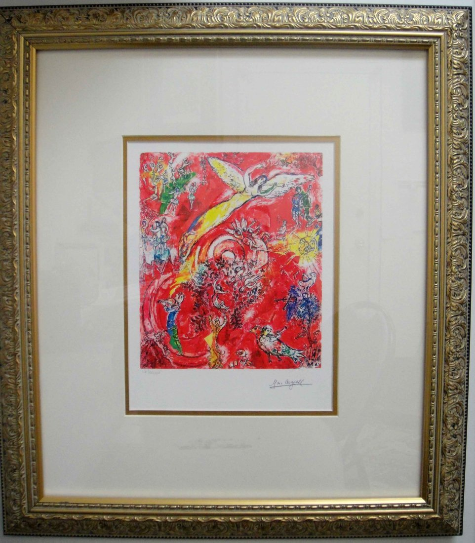"23: Marc Chagall ""Angel"" Limited Giclee Framed"