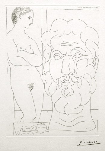 Pablo PICASSO; Suite Vollard Lithograph Plate Signed