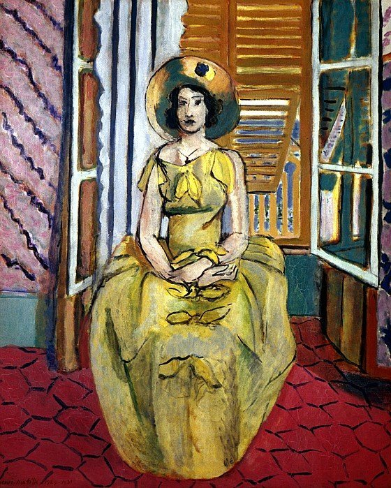 40C: The Yellow Dress  by Henri Matisse .lithograph.