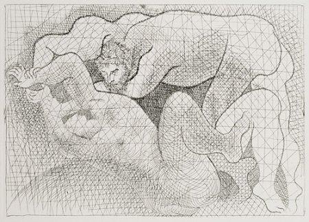 Picasso - Le Viol Suite Vollard plate signed Lithograph