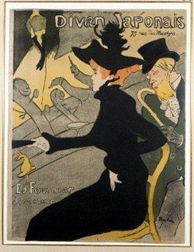 """Toulouse-Lautrec """"Divan Japonais""""Giclee"""