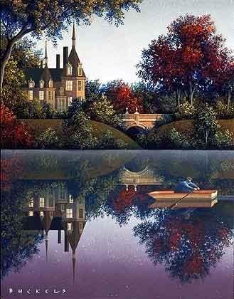 "80: Jim Buckels ""Autumn"" The Seasons Suite.  Serigraph"