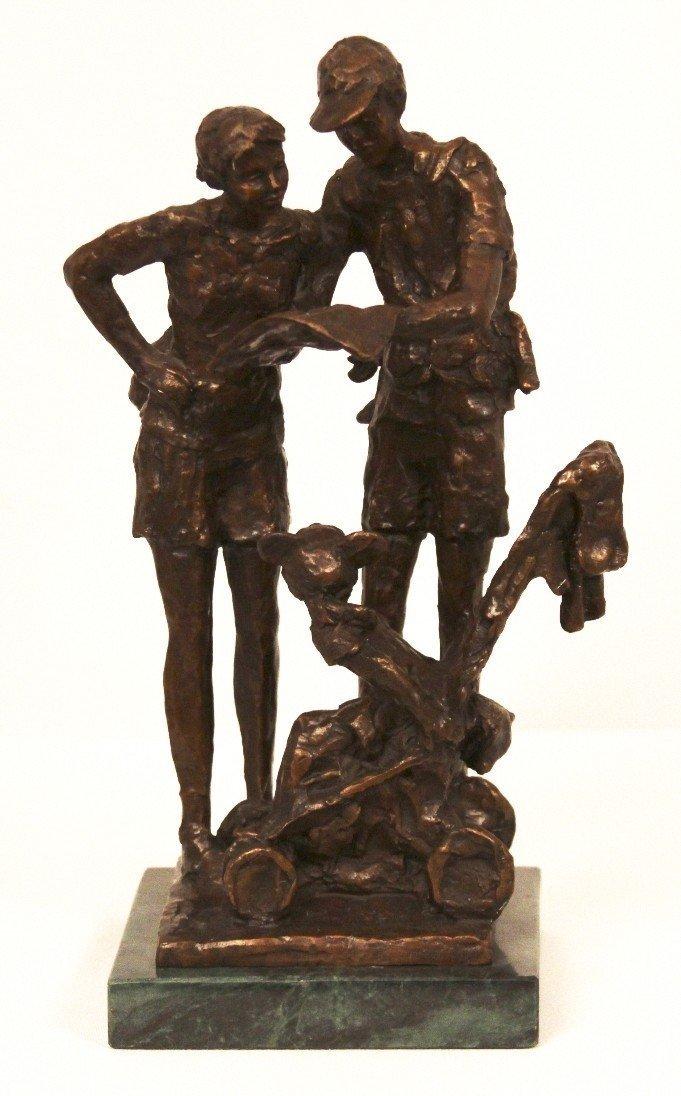 """44: Dennis Smith """"lost in fantasyland"""" Bronze Sculptur"""