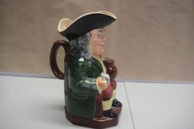"Toby Hand Painted English Water Pitcher 10"""" Tall"