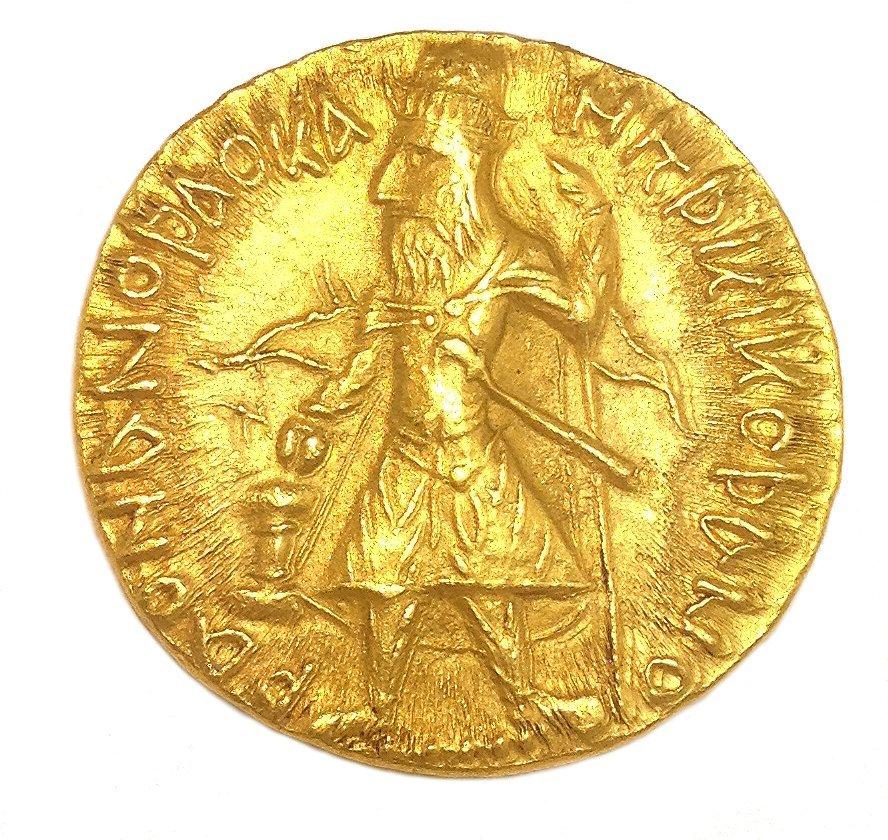 1H: Ancient 127 AD Kushan Kanishka 22KT-24KT Gold Coin