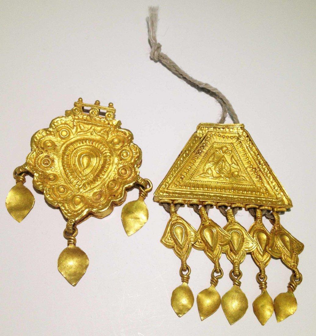 40H: Ancient Pair Islamic 22KT Solid Gold Persian Penda