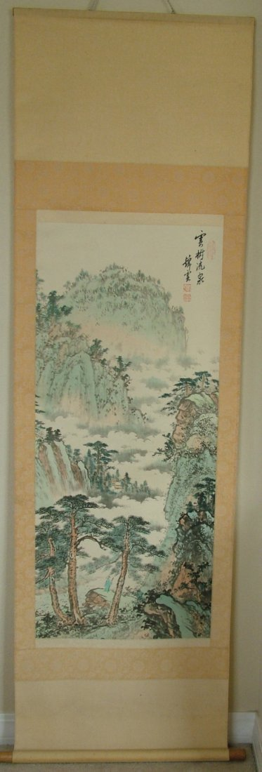 81: Chinese Watercolor SCROLL signed and sealed