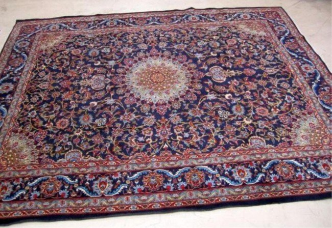 """83: ANTIQUE 30 YEARS OLD+ PERSIAN WOOL CARPET 13' 2"""" x"""