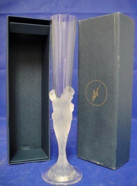 84: SIGNED Erte Flute Glass in Original Box