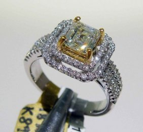 1.54ctw (1.03ct SI3 CNTR) Diamond 18KT White Gold