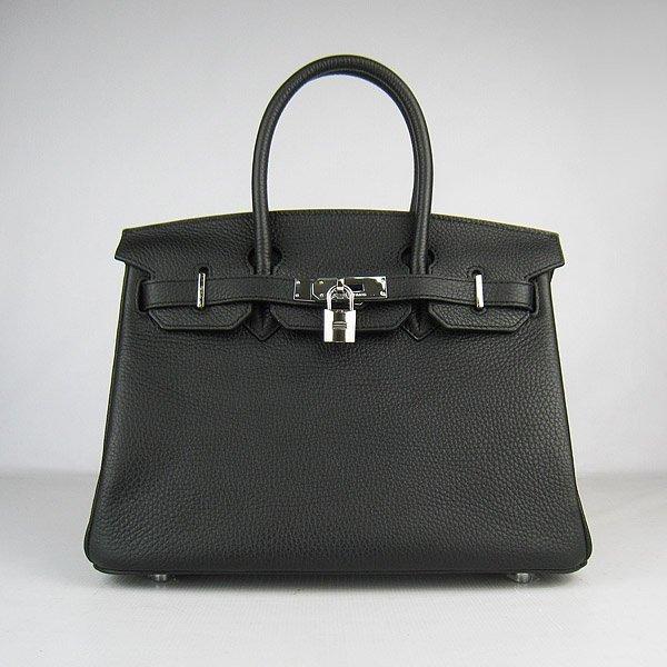 Authentic Hermes Birkin Black Tote 30CM Handbag