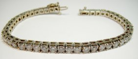 14KT White Gold 8.45ct Diamond Tennis Ladies Bracelet