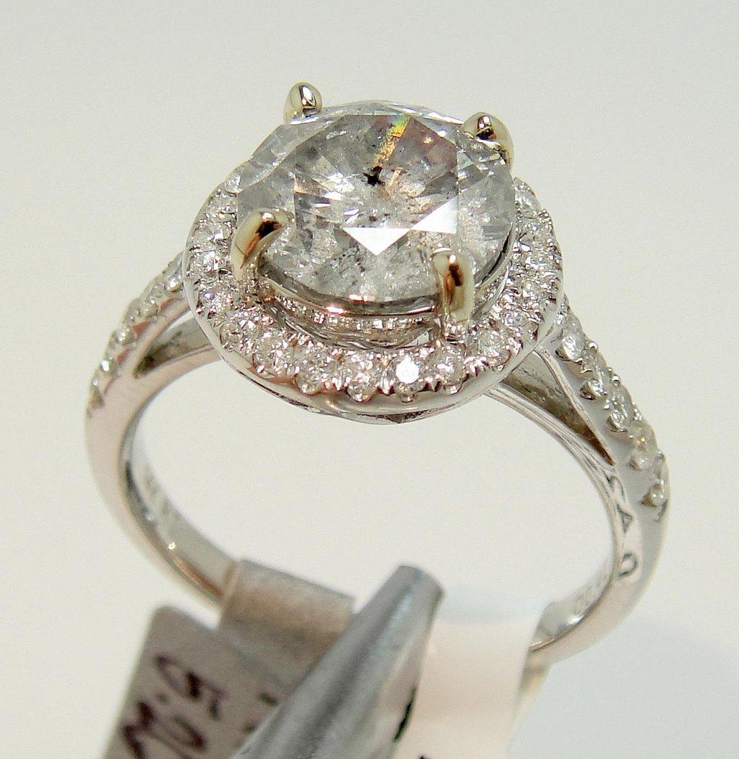 2.77ctw (2.35ct CNTR) Diamond 14KT White Gold Ring