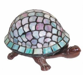 Tiffany Light Turtle Accent Lamp Bronze Finish