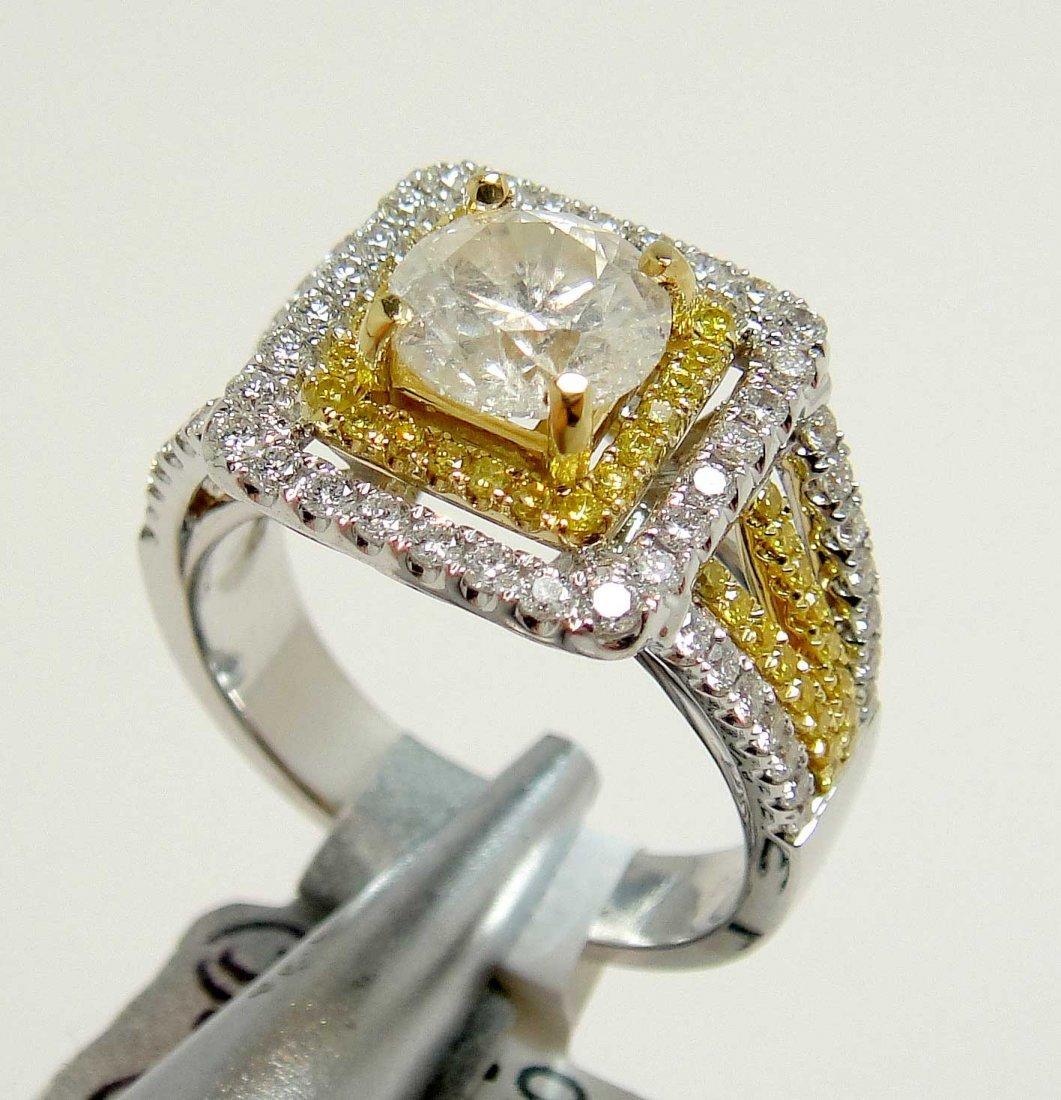 2.18ct (1.30ct CNTR) Diamond 18KT White Gold Ring