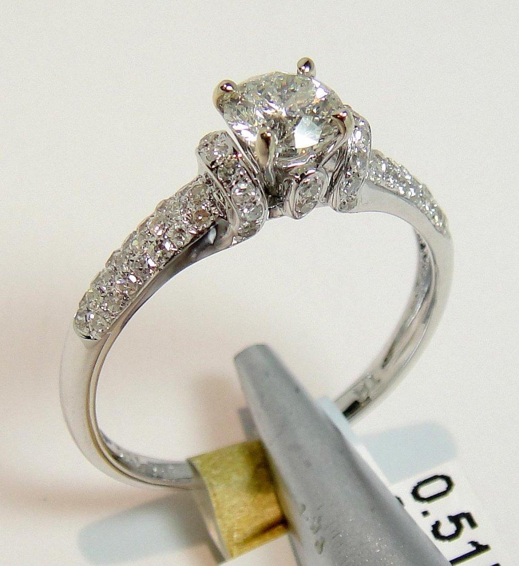 0.78ct (0.51ct CNTR) Diamond 18KT White Gold Ring