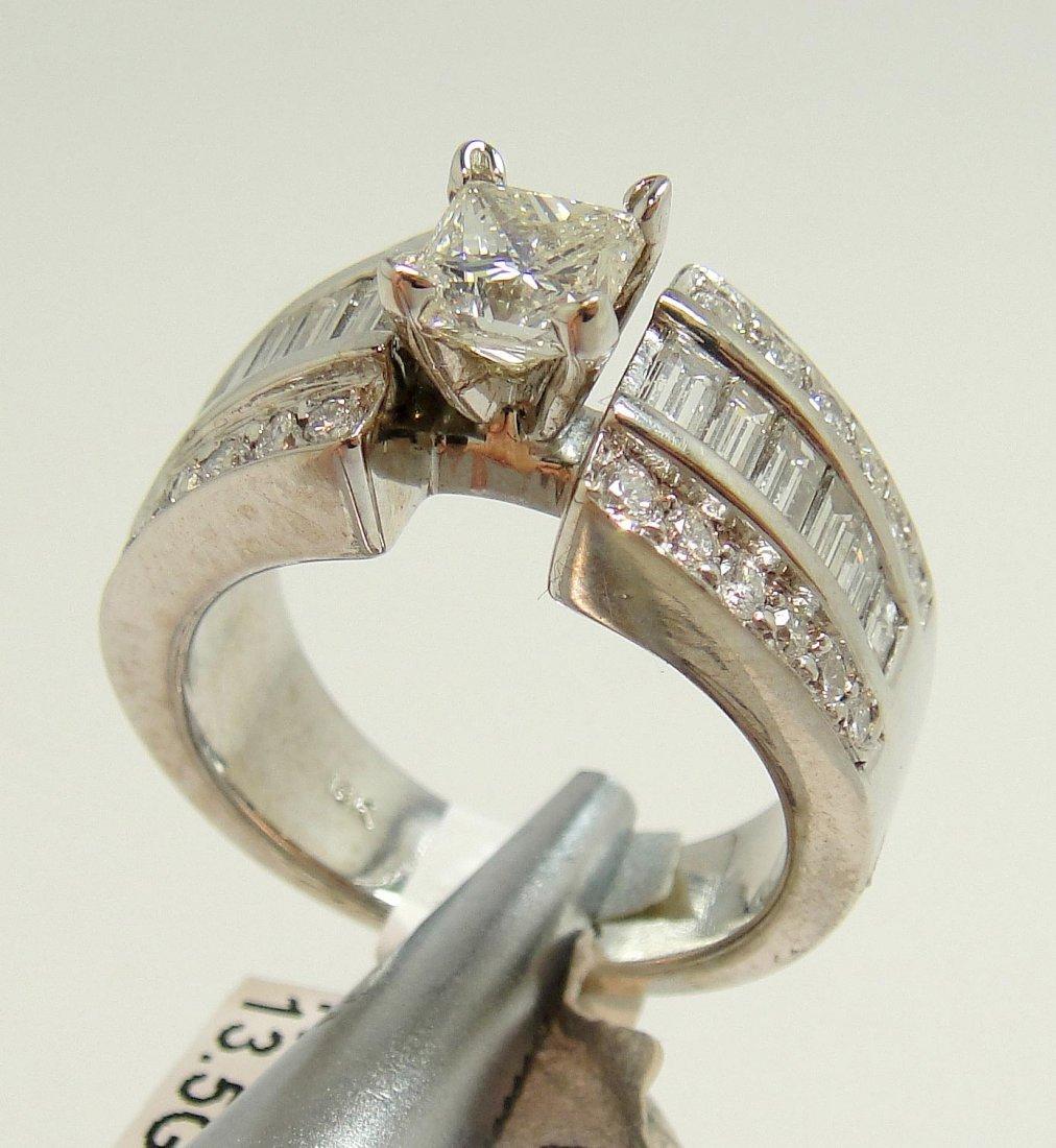2.44ctw (1.02ct CNTR) Diamond 18KT White Gold Ring