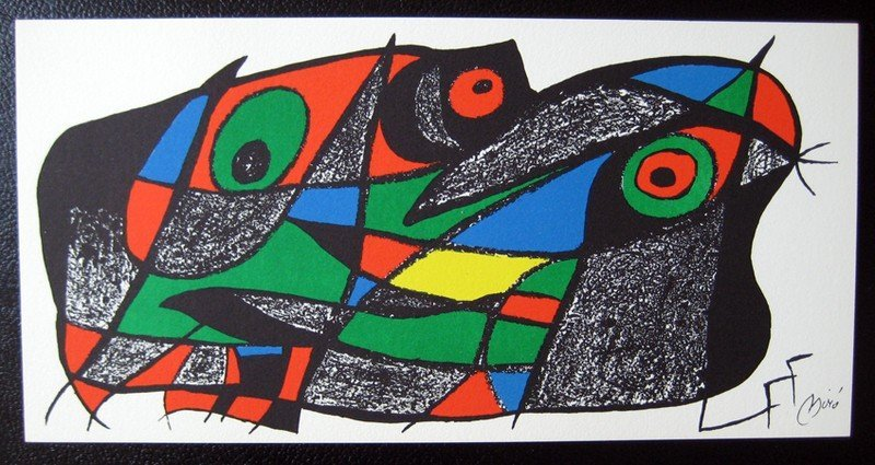 3B: Miro Sculptor - Sweden Litho on Stone, Plate Signed