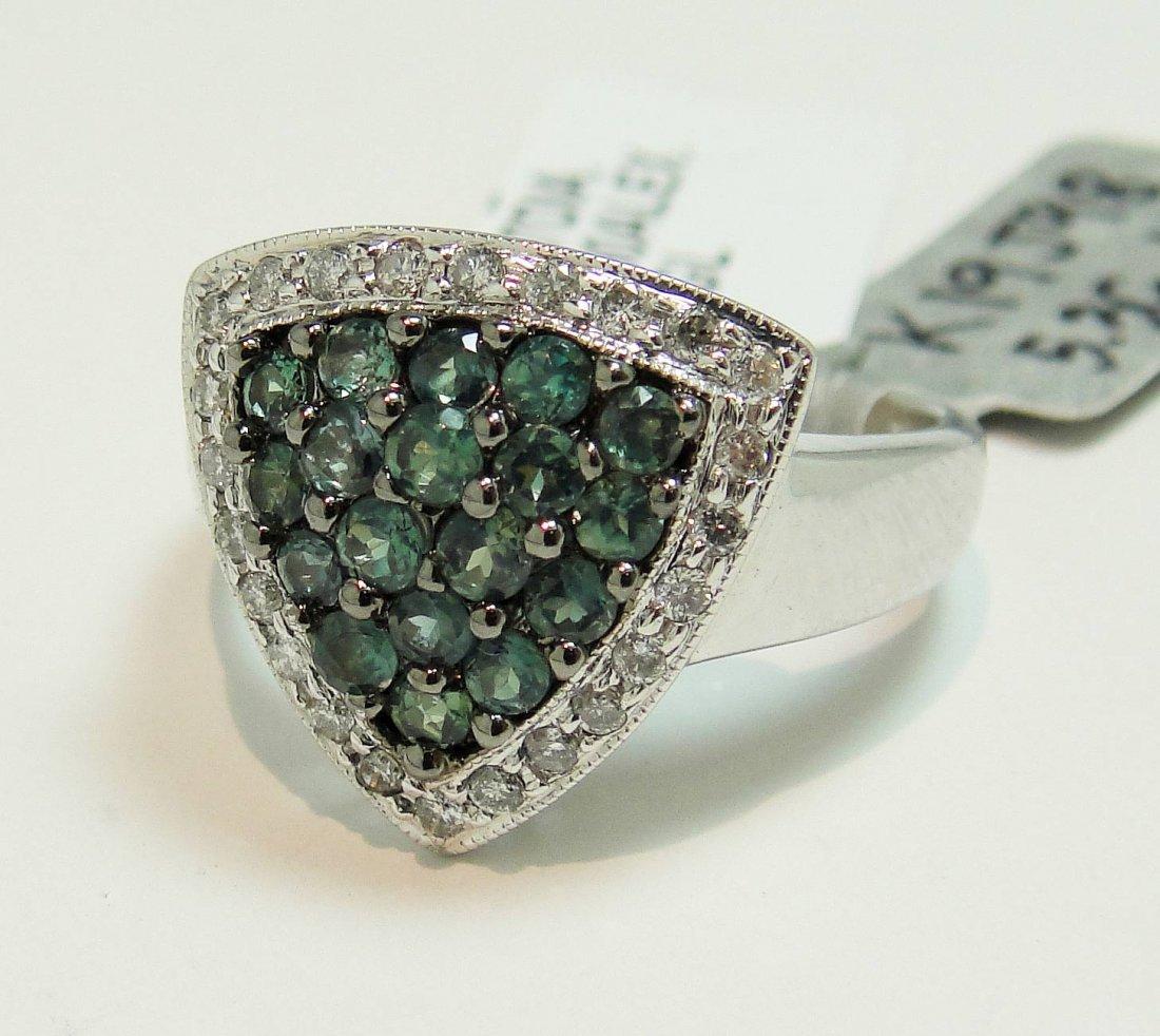 0.90ctw Alexandrite & 0.27ctw Diamond 14KT Gold Ring