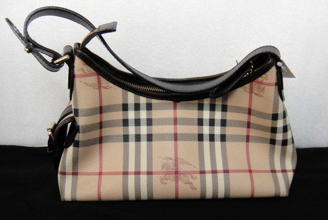 3D: Authentic Burberry Canvas/Leather Ladies Handbag