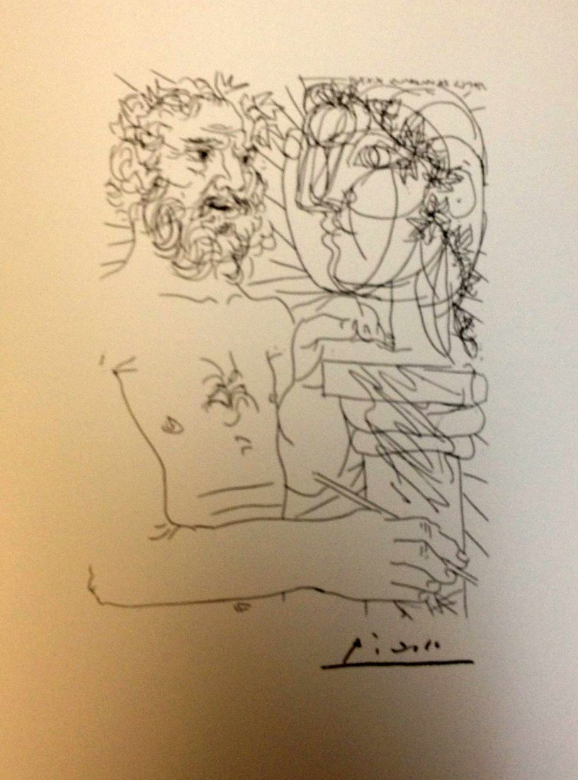 "3A: PICASSO ""Suite Vollard"" Lithograph Plate Signed"
