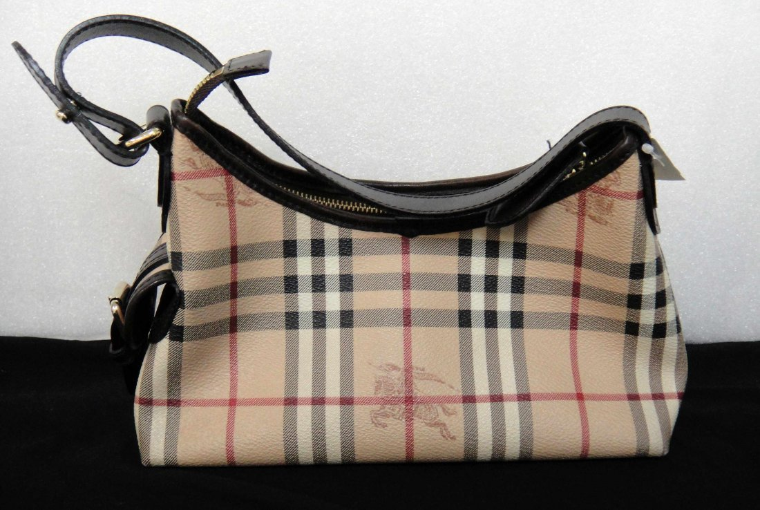 2C: Authentic Burberry Canvas/Leather Ladies Handbag