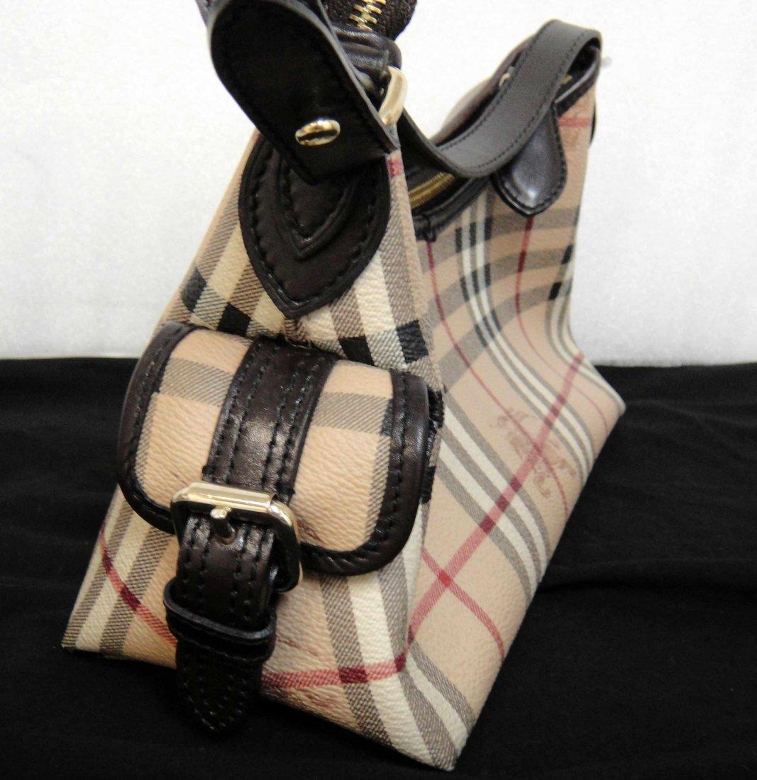 2C: Authentic Burberry Canvas/Leather Ladies Handbag - 3