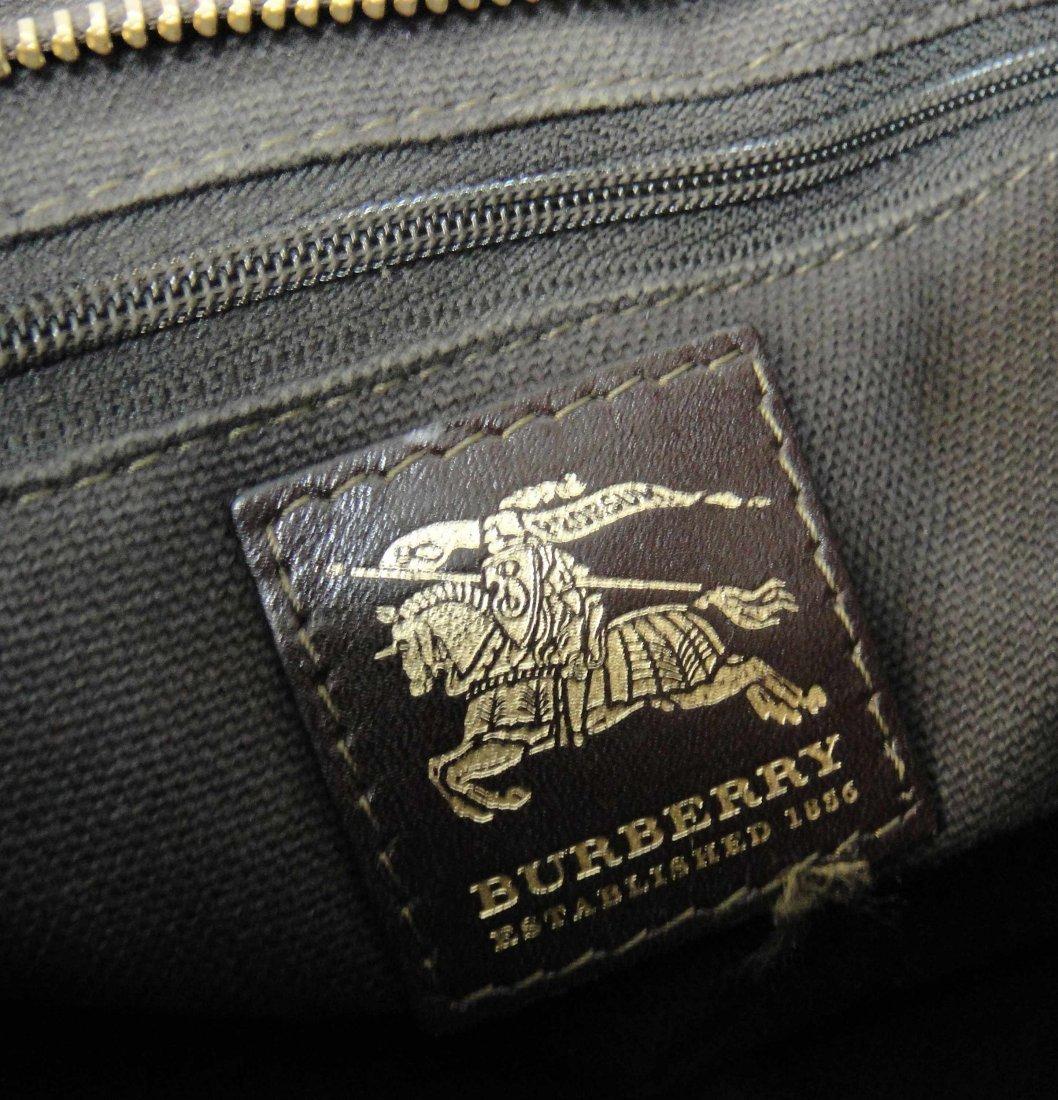 2C: Authentic Burberry Canvas/Leather Ladies Handbag - 4