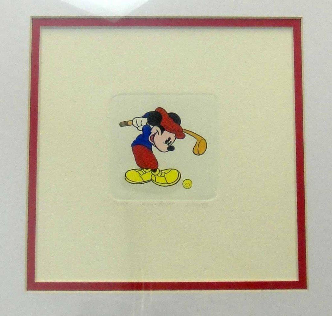 "Original Walt Disney Etching ""Mickey Mouse"" Framed"